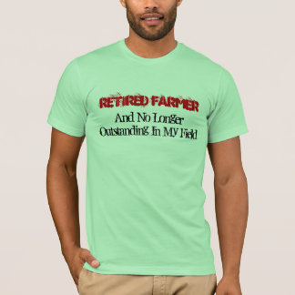 Granjero jubilado camiseta