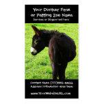 Granjero o rancho del burro plantillas de tarjetas personales