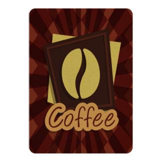 Grano de café del ejemplo invitación 12,7 x 17,8 cm