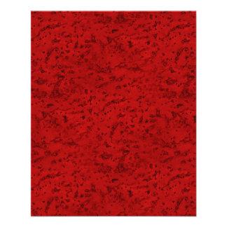 Grano de madera de la mirada del corcho del rojo folleto 11,4 x 14,2 cm