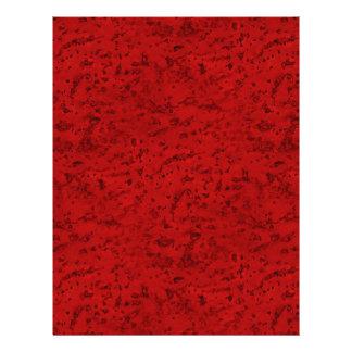 Grano de madera de la mirada del corcho del rojo folleto 21,6 x 28 cm