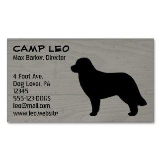 Grano de madera de la silueta del perro de tarjetas de visita magnéticas (paquete de 25)