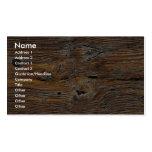 Grano de madera, hoja de la madera resistida tarjeta de visita