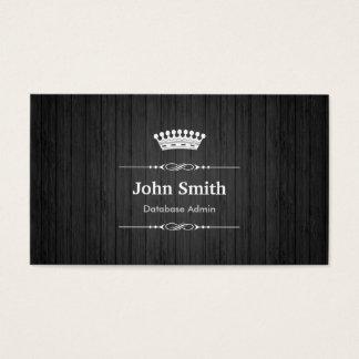 Grano de madera negro real del Admin de la base de Tarjeta De Visita