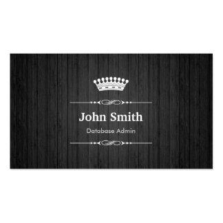 Grano de madera negro real del Admin de la base de Plantilla De Tarjeta Personal