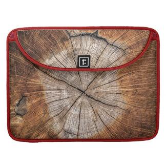 Grano de madera, rojo funda para macbook pro