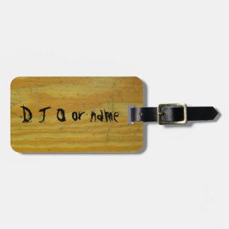 Grano tallado de madera del escritorio de la etiquetas bolsas