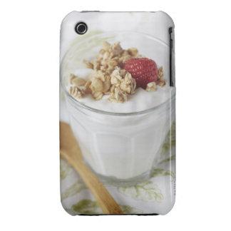 Granola, avena, tostada, fruta, baya, frambuesa, carcasa para iPhone 3