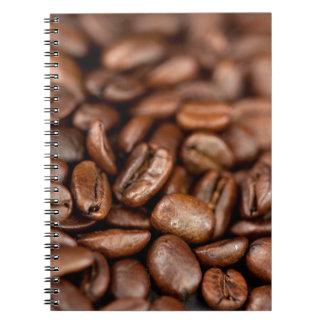 Granos de café asados cuaderno