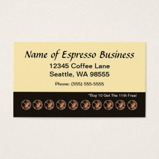 Granos de café divertidos de la tarjeta de sacador