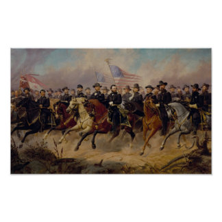 Grant y su pintura de los generales póster