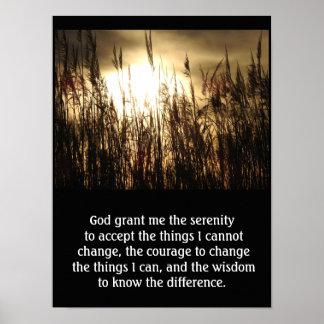 Grant yo serenidad - impresión del arte del rezo