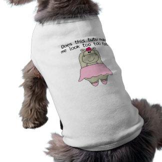 Grasa del Tu Tu del hipopótamo Ropa De Perros