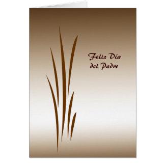Grass de bronce Dia del Padre Felicitacion
