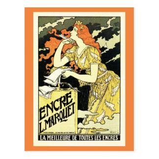 Grasset, publicidad francesa de la tinta del postal