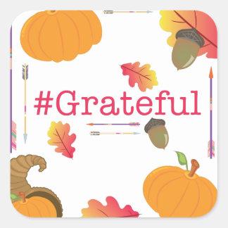 #Grateful Pegatina Cuadrada