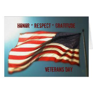 Tarjeta Gratitud del respecto del honor - gracias tarjeta