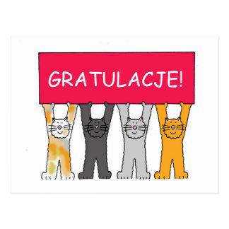 ¡Gratulacje! Enhorabuena en polaco Postal