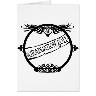 Graudation 2011 tarjeta de felicitación