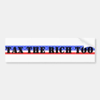 Grave a los ricos también pegatina para coche