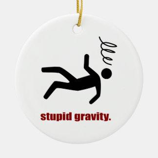 Gravedad estúpida - hago mis propios trucos ornamento de navidad