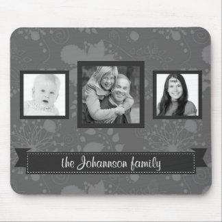 Grayscale personalizado de las fotos de familia tapetes de raton