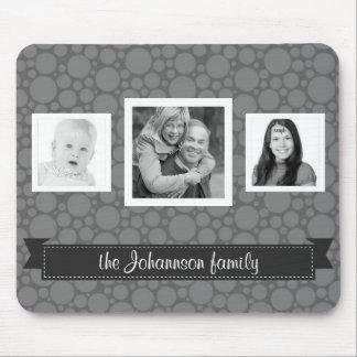 Grayscale personalizado de las fotos de familia alfombrilla de ratón