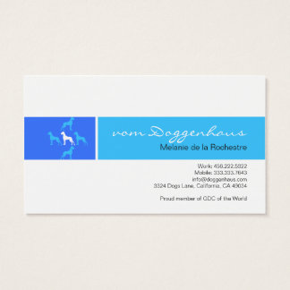 Great dane formal tarjeta de negocios