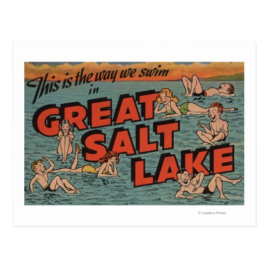 Great Salt Lake, manera de UtahThe nosotros Postal