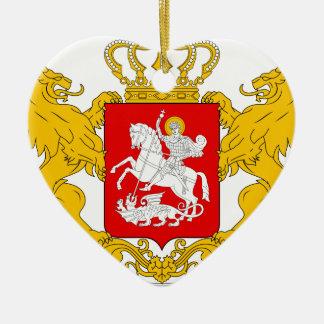 Greater_coat_of_arms_of_Georgia Adorno Navideño De Cerámica En Forma De Corazón