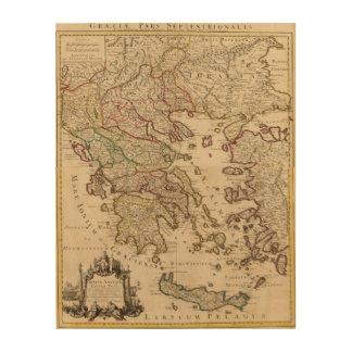Grecia y Macedonia Cuadros De Madera