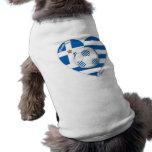 """GREECE"" soccer team. Fútbol Grecia 2014 Football Camiseta Sin Mangas Para Perro"