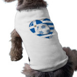"""GREECE"" soccer team. Fútbol Grecia 2014 Football Camisa De Perrito"