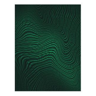 Green animal print postal