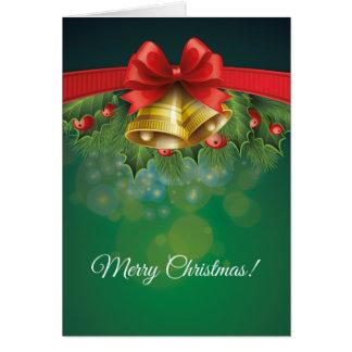 Green Christmas decorative Card Tarjeta De Felicitación