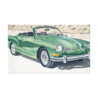 Green Old Times - dibujo de lápiz de color Lienzo Envuelto Para Galerias