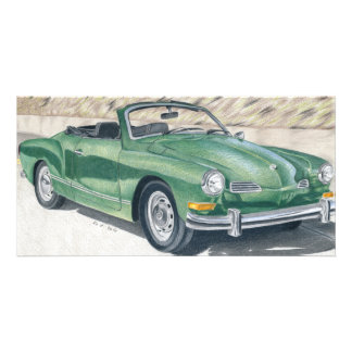 Green Old Times - dibujo de lápiz de color Tarjeta Fotografica