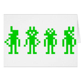 green pixel robots felicitación