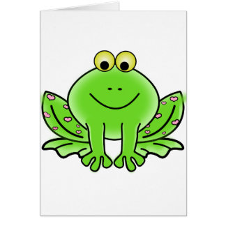 Green_Valentine_Frog_with_pink_hearts.png Tarjeta
