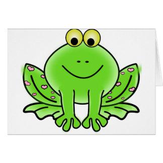 Green_Valentine_Frog_with_pink_hearts.png Tarjeta De Felicitación