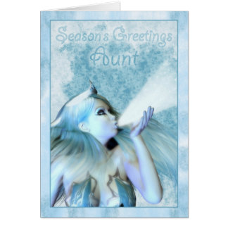 Greeting de tía Season's, la doncella de Frost Felicitación