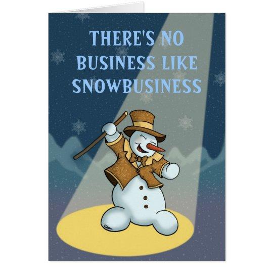 greetingcard del día de fiesta del muñeco de nieve tarjeta de felicitación
