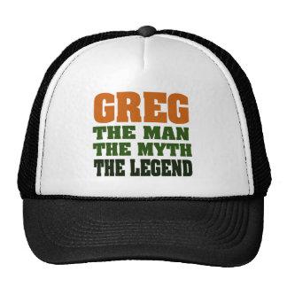¡Greg - el hombre, el mito, la leyenda! Gorro De Camionero