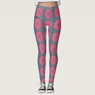 greyfloral leggings