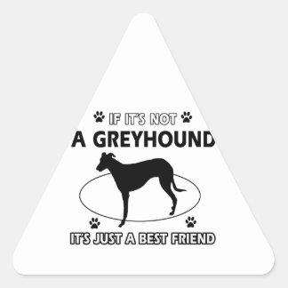 GREYHOUND.png Pegatina Triangular