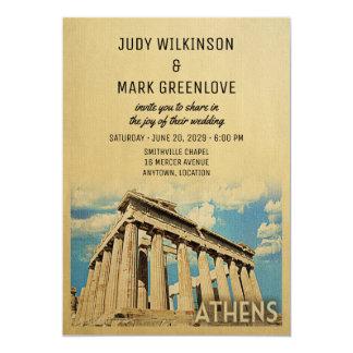 Griego de Grecia de la invitación del boda de