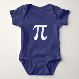 Griego del símbolo de la matemáticas del pi body para bebé