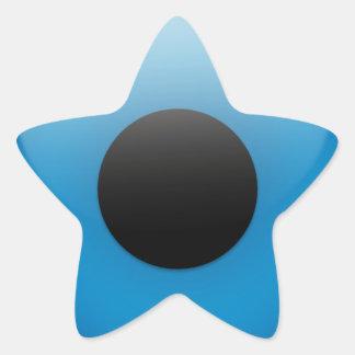 Griego Ojo de la protección de mal de ojo Pegatinas Forma De Estrella Personalizadas