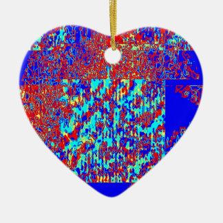 Grieta de la espina dorsal adorno de cerámica en forma de corazón