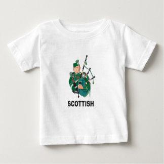 grieta del escocés camiseta de bebé